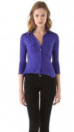 Cotton button front shirt by James Perse at Shopbop