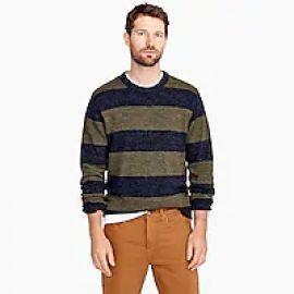 Cotton-wool crewneck sweater in stripe at J. Crew