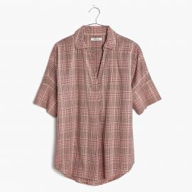 Courier Button-back Shirt in Hartley Plaid at Madewell