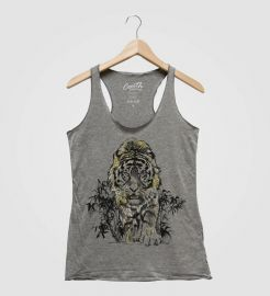 Couth Clothing Tiger Women Tank Top with Gold Foil  at Etsy