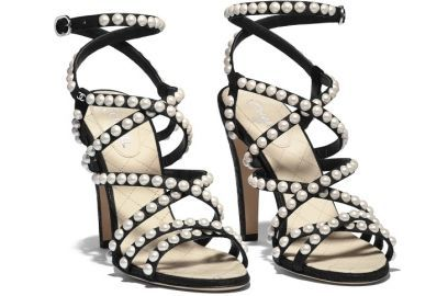 Crackled lambskin Sandals  Chanel at Chanel