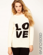 Cream LOVE sweater at ASOS at Asos