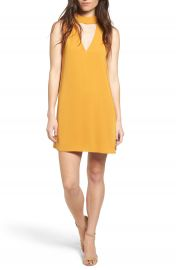 Cream and Sugar Cutout Front Mock Neck Shift Dress at Nordstrom