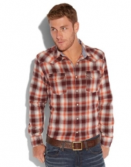 Creekside Plaid Western Shirt at Lucky Brand