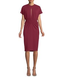 Crepe Jersey Cinched-Waist Dress at Bergdorf Goodman