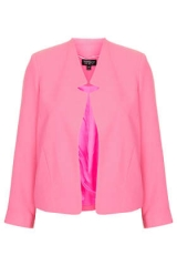 Crepe Notch Neck Jacket at Topshop