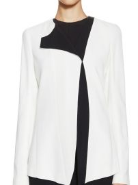 Crepe One Sided Lapel Jacket by Narciso Rodriguez at Gilt