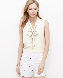 Crepe Tie Neck Blouse at Ann Taylor