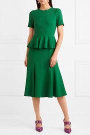 Crepe peplum dress by Dolce & Gabbana at Net A Porter