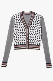 Crescent Print Cardigan at Derek Lam