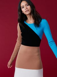 Crewneck Flare Knit Dress at Diane von Furstenberg