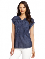 Crinkle gauze top by Calvin Klein at Amazon