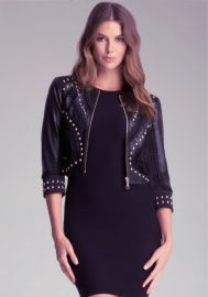 Crochet Leather Jacket at Bebe