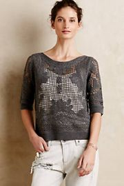 Crochet Stitch Pullover at Anthropologie