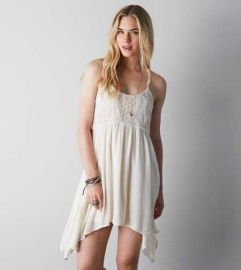 Crochet babydoll dress at American Eagle