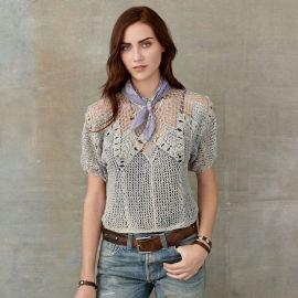 Crocheted Linen Pullover at Ralph Lauren