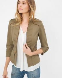 Crop military jacket at White House Black Market