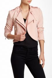 Cropped Moto Jacket Petite at Nordstrom Rack