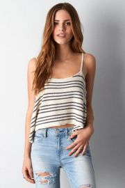 Cropped Stripe Cami at American Eagle