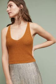 Cropped Sweater Tank at Anthropologie