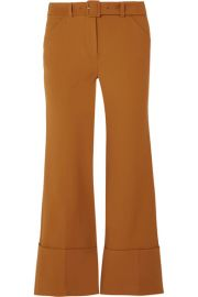 Cropped crepe flared pants at Net A Porter