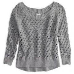 Cropped open stitch sweater at American Eagle