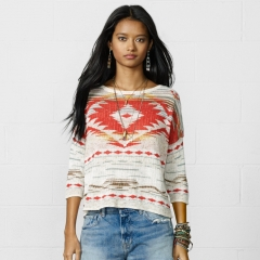 Cropped sleeve sweater at Ralph Lauren