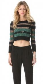 Cropped stripe sweater by Vena Cava at Shopbop