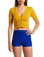 Cropped yellow cardigan from Nasty Gal at Nasty Gal