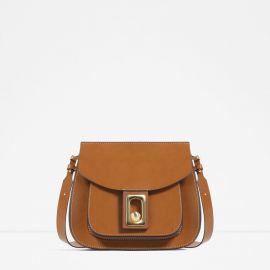 Cross Body Bag with Fastening Detail at Zara