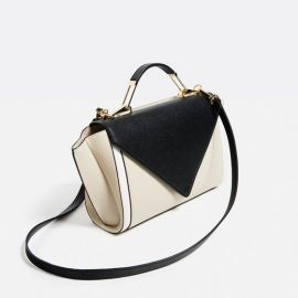 Crossbody Bag with Contrast Flap at Zara