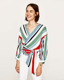 Crossover Striped Top at Zara