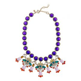 Crystal Color Statement Necklace at J. Crew
