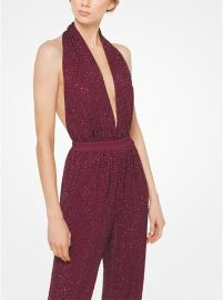 Crystal-Embroidered Matte-Jersey Bodysuit by Michael Kors Collection at Michael Kors