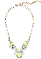Crystal Feather Necklace at J. Crew