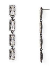 Crystal Frame Drop Earrings at Bloomingdales