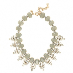 Crystal Leaves Necklace at J. Crew