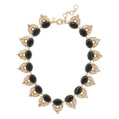 Crystal Stone Cluster Necklace at J. Crew