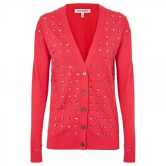 Crystal Studded Cardigan by Juicy Couture in pink at Selfridges