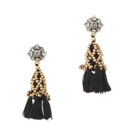 Crystal Tassel Earrings at J. Crew