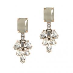 Crystal leaves earrings at J. Crew