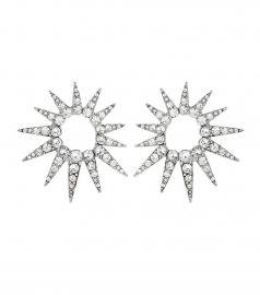 Crystal starburst earrings by Oscar de la Renta  at Mytheresa