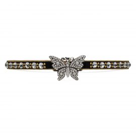 Crystal studded butterfly choker at Gucci