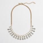 Crystal teadrop necklace at J. Crew