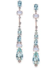 Cubic Zirconia Linear Drop Earrings at Macys