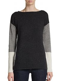 Cullen Cashmere Colorblock Pullover at Saks Off 5th