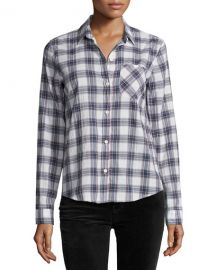 Current Elliott The Slim Boy Shirt  Burnside Plaid at Neiman Marcus