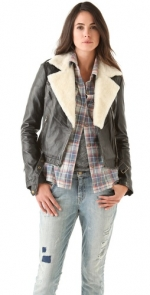 Current Elliot Shearling Jacket on HIMYM at Shopbop