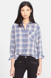 Current Elliott  The Slim Boy  Plaid Shirt at Nordstrom