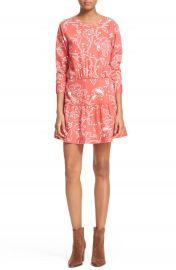 Current Elliott  The Tennant  Floral Print Cutout Dress at Nordstrom